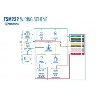 Teltonika TSM232 - схема подключений