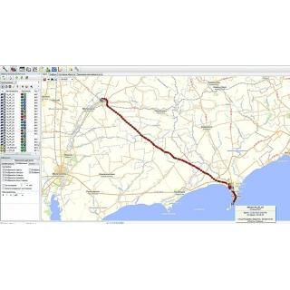 """Отображение перемещения автомобиля в программно-аппаратном комплексе GPS/ГЛОНАСС мониторинга транспорта """"Навигатор"""""""