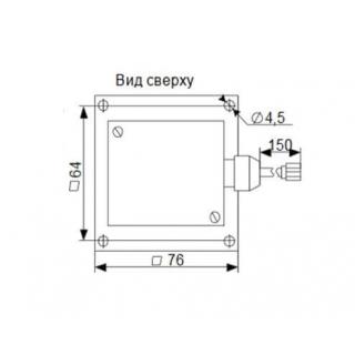 Габаритные размеры аналогового датчика уровня топлива ДУ-04 - вид сверху