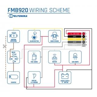 Схема подключения Teltonika FMB920