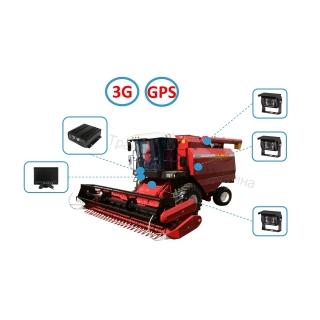 Комплект видеонаблюдения на комбайн (Online - 3G+GPS)