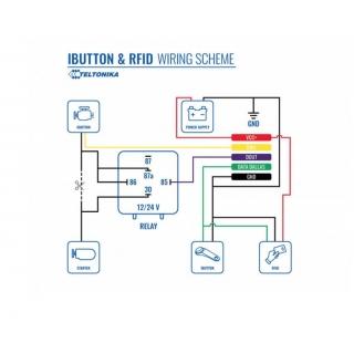 Схема подключения 1-WIRE RFID считывателя