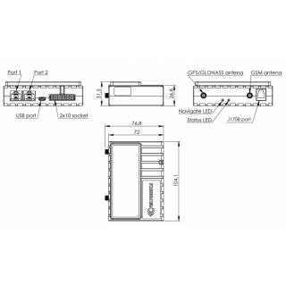 Габаритные размеры Teltonika FMB640