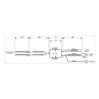 Габаритные размеры стабилизатора напряжения STN 0930-12-8