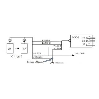 """Схема подключения сигнализации слива топлива """"БСС"""" без GPS терминала"""