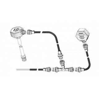 Подключение нескольких ДУТ Eurosens Dominator RS 1000 мм через Т-кабель