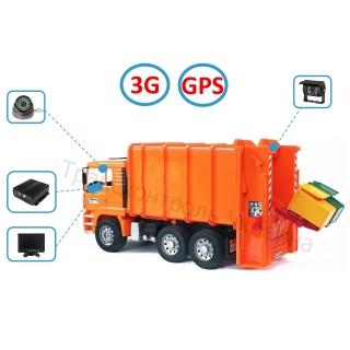 Комплект видеонаблюдения на мусоровоз (Online - 3G+GPS)