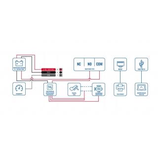 Схема подключения GPS терминала Teltonika MSP500